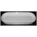 """WHITE TIE Oblong Plate 12"""" x 4"""""""