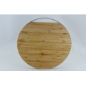 Bamboo Round Cutting Board, 12""