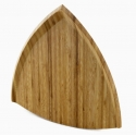 Bamboo Triangular Cutting Board, 12""