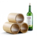 Bamboo Wine Rack, 3-Bottle