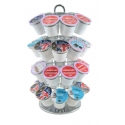 Coffee Pod Carousel, 4x9 - Chrome