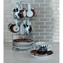 "13-Piece Espresso Set - Assorted ""Coffee Bean Series"""
