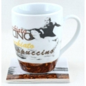 "2-Piece Mug & Coaster Set  - ""Coffee Bean"""