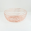 "FABLE Geometric Bowl 12x10x4.7""H,  Rose Gold"