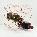 FABLE Flow Wine Rack, Rose Gold