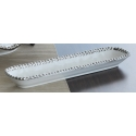 FABLE Beaded Rectangular Plate, 13.75""