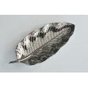 FABLE Silver Banana Leaf Plate, 17""
