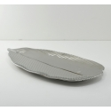 FABLE Silver Tropical Leaf Plate, 16""