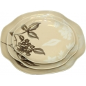 "ORGANIC 4-Pc Dinner Plate, 11"" x 10"" (Yellow)"