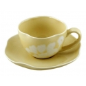 ORGANIC 8-Pc Cup & Saucer Set, 8oz (Yellow)
