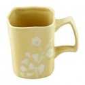 ORGANIC 4-Pc Square Mug, 14oz (Yellow)
