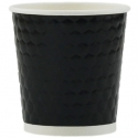 Paper Cup 4oz, Diamond Double Wall in Black, 1000-count