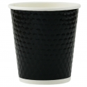 Paper Cup 10oz, Diamond Double Wall in Black, 500-count