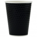 Paper Cup 12oz, Diamond Double Wall in Black, 500-count