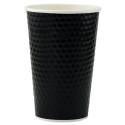 Paper Cup 16oz, Diamond Double Wall in Black, 500-count
