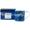 "Coffee Mug in Gift Box - ""Start the Day"" (Blue)"