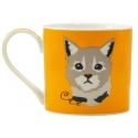 "Animal Coffee Mug in Gift Box - ""Cat"""