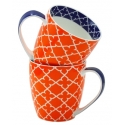 2-Piece Pattern Mug Set  - Orange