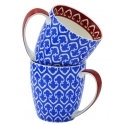 2-Piece Pattern Mug Set  - Blue