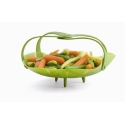 Trudeau Silicone Vegetable Steamer with Handles