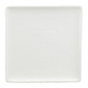 WHITE TIE Flush Square Plate, 10""
