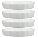 WHITE TIE 4-pc Quiche Dish Set, 6""