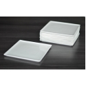 WHITE TIE Flush Square Plate, 6.5""