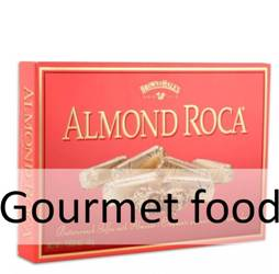 Gourmet food, cookies, biscuits, chocolates, candy